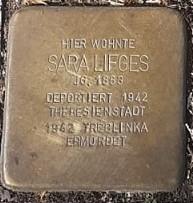 Stolperstein in Gedenken an Sara Lifges