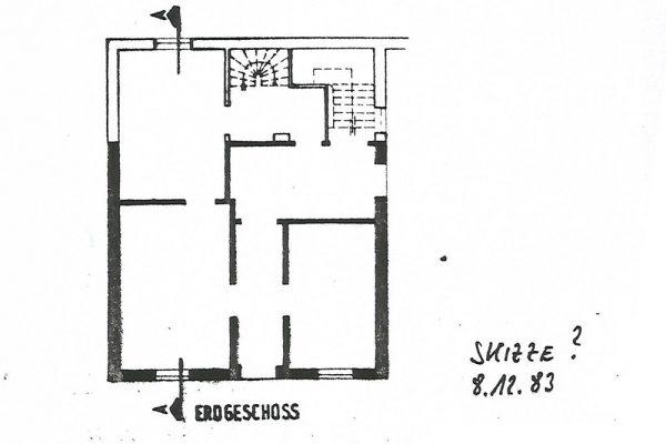 Erdgeschoss des Gebäudes