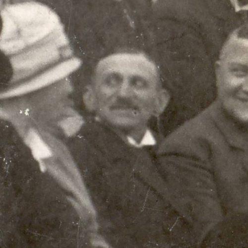 Leopold Baum als Gast bei der Eröffnung der Süchtelner Pferderennbahn