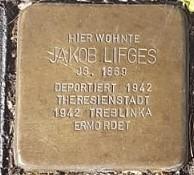 Stolperstein in Gedenken an Jakob Lifges