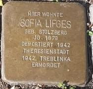 Stolperstein in Gedenken an Sofia Lifges