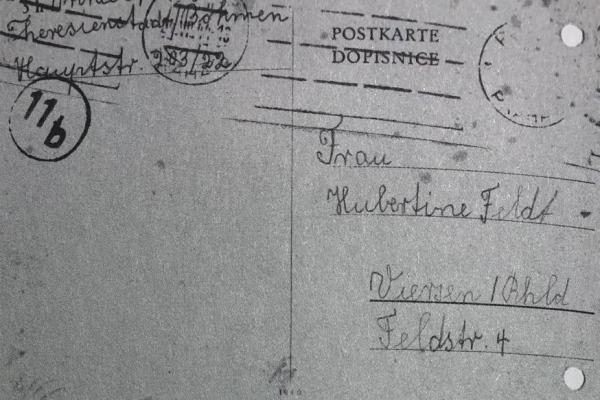Annie Nussbaum_Letzte Postkarte aus Theresienstadt_1