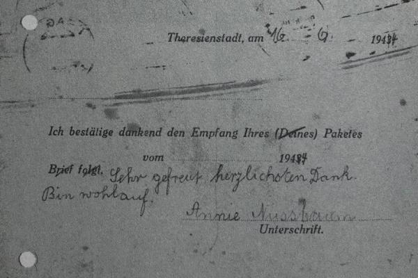Annie Nussbaum_Letzte Postkarte aus Theresienstadt_2
